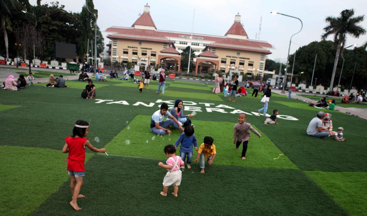 Taman Puspem Kota Tangerang Diminati Keluarga Muda